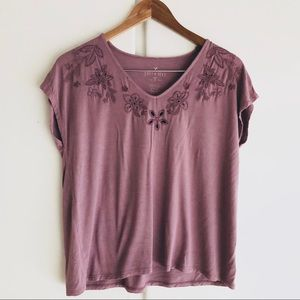 American Eagle Embroidered Eyelet Top